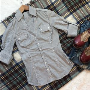 NWOT EXPRESS striped button up❤️